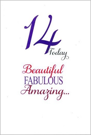 14 jaar verjaardag 14 jaar   verjaardagskaart   14 today beautiful famulous amazing  14 jaar verjaardag