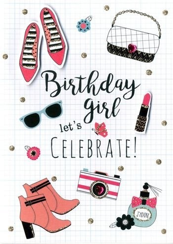 Verjaardagskaart Birthday Girl Let S Celebrate Muller Wenskaarten
