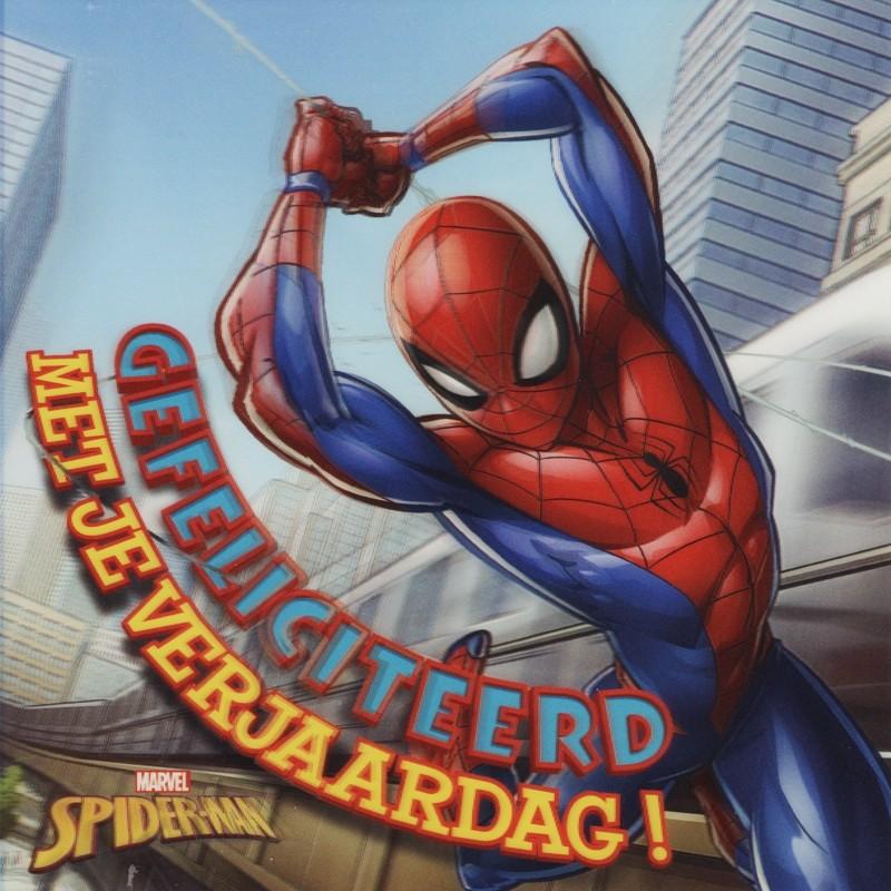 3d Verjaardagskaart Spider Man Gefeliciteerd Met Je Verjaardag