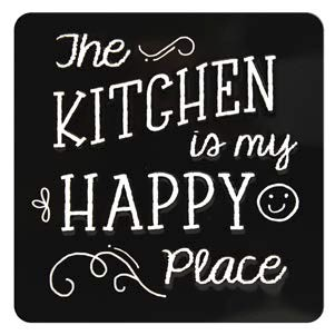 tinnen magneet - the kitchen is my happy place