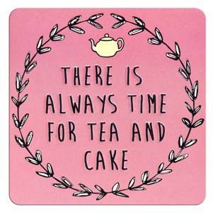 tinnen magneet - there is always time for tea and cake