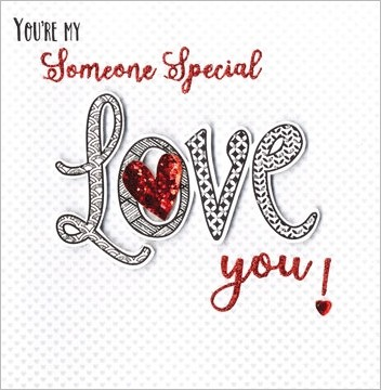 Luxe Valentijnskaart You Are My Someone Special Love You Muller