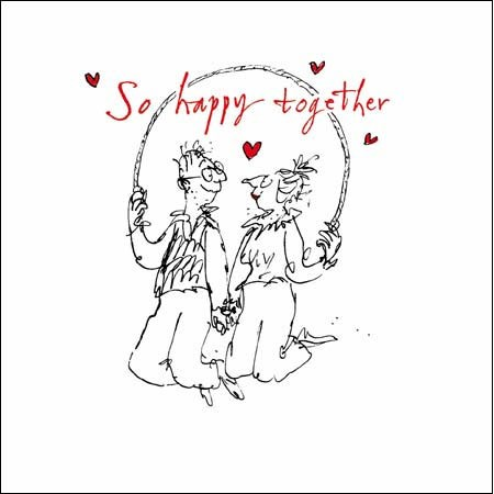 valentijnskaart  woodmansterne quentin blake - so happy together