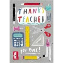 wenskaart - thanks teacher you rule!