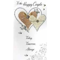 grote luxe trouwkaart - to the happy couple today, tomorrow, always