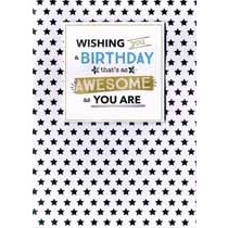 verjaardagskaart - wishing you a birthday that s as awesome as you are