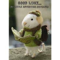 santoro tiny squee mousies afscheidskaart - good luck... my little adventure squeaker