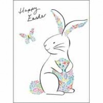 5 paaskaartjes woodmansterne - happy easter - paashaas met ei