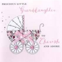 luxe geboortekaart kleindochter - precious little granddaughter to cherish and adore