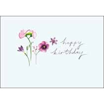 verjaardagskaart woodmansterne peppermint - happy birthday - bloemen