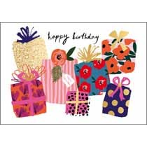 verjaardagskaart woodmansterne coral - happy birthday - cadeaus