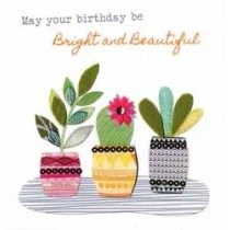 verjaardagskaart - may your birthday be bright and beautiful - planten