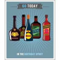 60 jaar - grote verjaardagskaart - 60 today - in the birthday spirit
