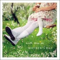 moederdagkaart woodmansterne esprit - mum with love on mother's day