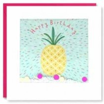 verjaardagskaart shakies - happy birthday - ananas