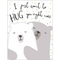 wenskaart  piano small notecards - i just want to hug you right now - beren