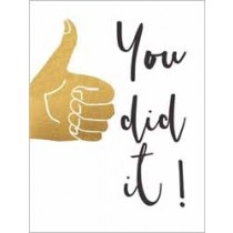 wenskaart  piano small notecards - you did it - duim omhoog