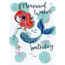 verjaardagskaart - mermaid wishes on your birthday - zeemeermin