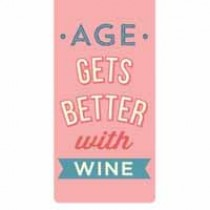 magnetische boekenlegger - age gets better with wine