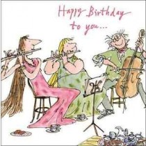 verjaardagskaart quentin blake - happy birthday to you...