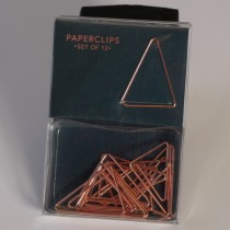 12 paperclips - midnight gold