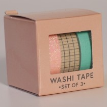 3 rollen washi tape - midnight gold
