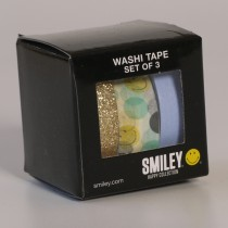 3 rollen washi tape - smiley
