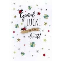 wenskaart - good luck! you can do it!