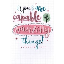 wenskaart hello you - you are capable of amazing things!
