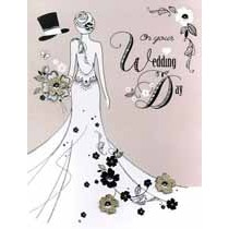 grote trouwkaart A4 - on your wedding day - bruid
