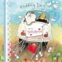 trouwkaart  - alex clark - wedding day just married - auto