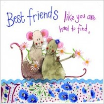 wenskaart alex clark - best friends like you are hard to find x - muizen