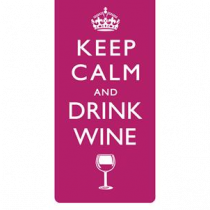 magnetische boekenlegger - keep calm and drink wine