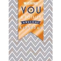 verjaardagskaart copper - wishing you a totally awesome birthday