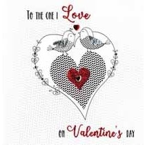 luxe valentijnskaart - to the one I love on valentine s day