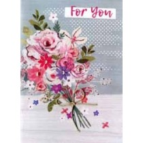 verjaardagskaart floral fancy - for you... - bloemen