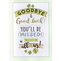 grote wenskaart A4 - goodbye & good luck! from all of us!