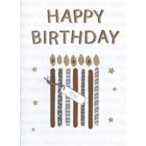 grote verjaardagskaart A4 - happy birthday to you - kaarsjes
