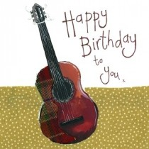 verjaardagskaart alex clark - happy birthday to you x - gitaar