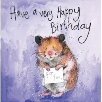 verjaardagskaart alex clark - have a very happy birthday for you - hamster