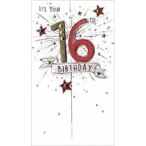 16 jaar - grote luxe verjaardagskaart - it is your 16th birthday