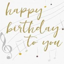 grote verjaardagskaart caroline gardner - happy birthday to you - muziek notenbalk