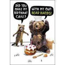 verjaardagskaart crackerjack - did you make my birthday cake - with my own bear hands