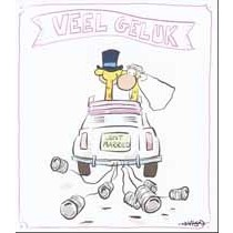 trouwkaart leendert jan vis - veel geluk just married