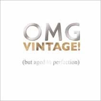 verjaardagskaart mas tag - omg vintage! (but aged to perfection)