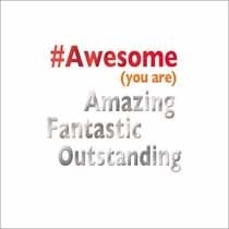 wenskaart mas tag - awesome you are amazing fantastic outstanding