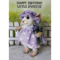 santoro tiny squee mousies verjaardagskaart - happy birthday little sweetie