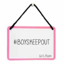 hang-ups! - tinnen bordje - boyskeepout girl's room