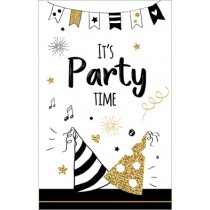 kaart met cadeau envelop - it s party time