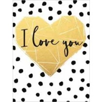 wenskaart  piano small notecards - i love you